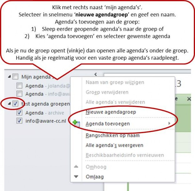 groepen in outlook agenda