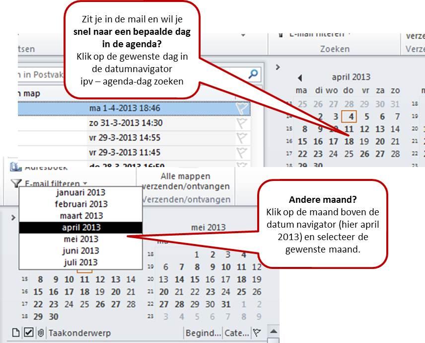 datum navigator outlook agenda