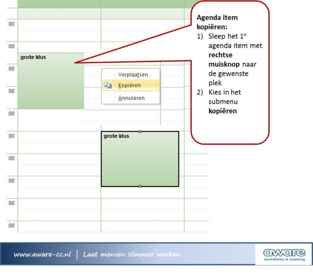agenda item kopieren